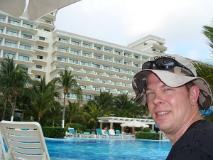 Me by the pool at Riu Caribe