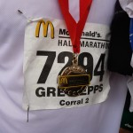 Race Bib and Medal
