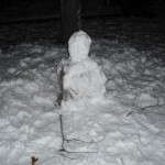 Our poor little armless snowman!