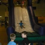 Cooper on the big slide
