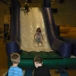 Sarah on the big slide