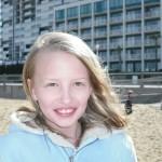 Sarah on the beach