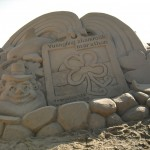 Sand Sculpture of the race medal.