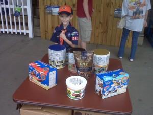 Cooper Selling Popcorn